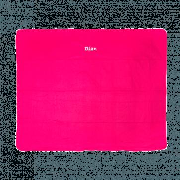 Fleece deken/ plaid geborduurd met naam