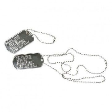 ID plaatje - DogTag Dubbelset