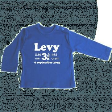 Geboorte t-shirt lange mouw
