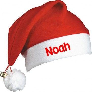 Kerstmuts (met belletje) met naam bedrukt