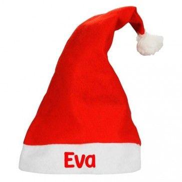 Kerstmuts met naam bedrukt