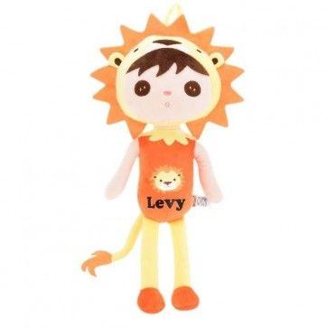 Zachte Lion/Leeuw Pop (metoo doll) met naam bedrukt
