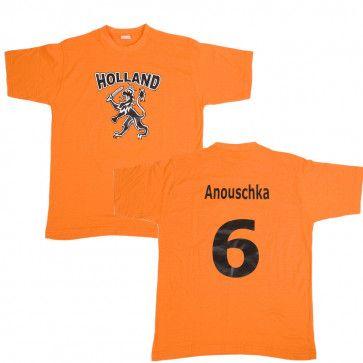 Oranje Holland T-shirt met naam bedrukt