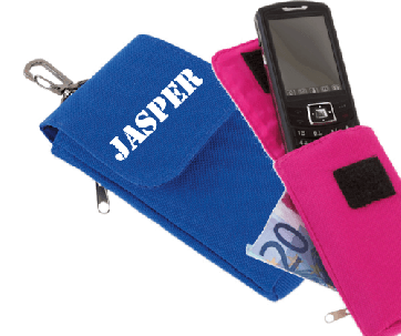 Telefoon-/iPod hoesje met naam bedrukt