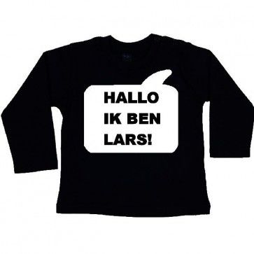 BaW Tekstballon T-shirt lange mouw