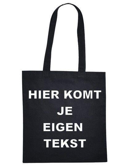 Stoffen Tas Eigen Tekst : Katoenen tas met eigen tekst
