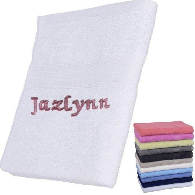 Naam Op Handdoek Laten Borduren.Handdoek Met Naam Geborduurd