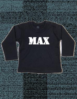 BaW T-shirt lange mouw met naam bedrukt
