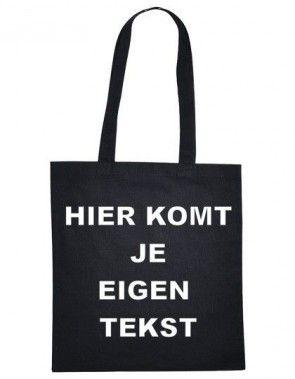 Katoenen tas bedrukt met eigen tekst