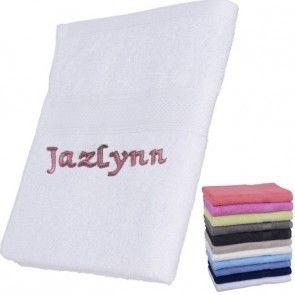 Handdoek met naam geborduurd