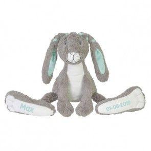 Grijze Happy Horse Rabbit Twine met naam bedrukt