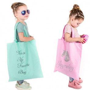 Katoenen tas bedrukt met naam of tekst