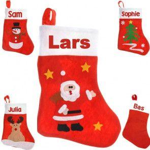 Kerstsok met naam bedrukt