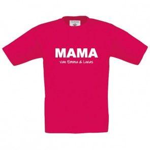 Mama/Oma shirt met naam/namen bedrukt