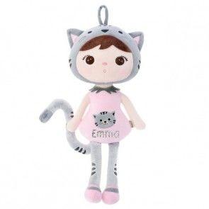 Zachte Cat/Poes Pop (metoo doll) met naam bedrukt