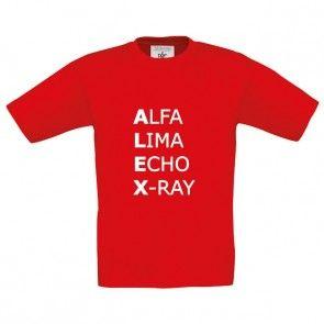 NAVO Alfabetshirt met naam