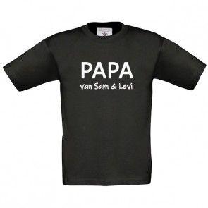 Papa/Opa shirt met naam/namen bedrukt