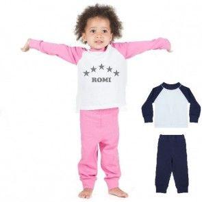 Kinder Pyjama met naam bedrukt