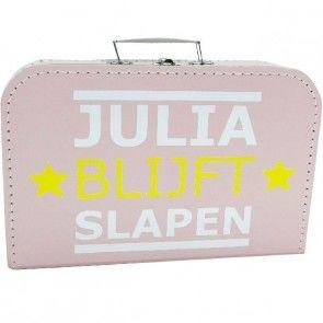 """Roze """"Blijft Slapen"""" koffer"""