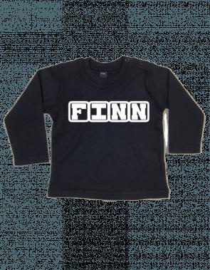 BaW T-shirt lange mouw met blokletters bedrukt