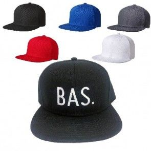 Snapback cap/pet met naam/tekst geborduurd