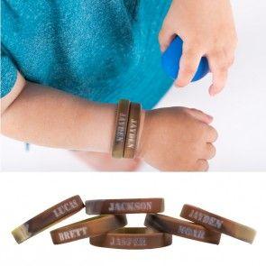 Stoer Leger/Army armbandje met naam