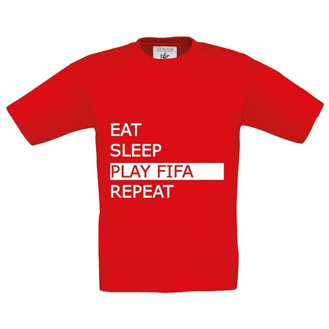 EAT SLEEP FIFA REPEAT SHIRT