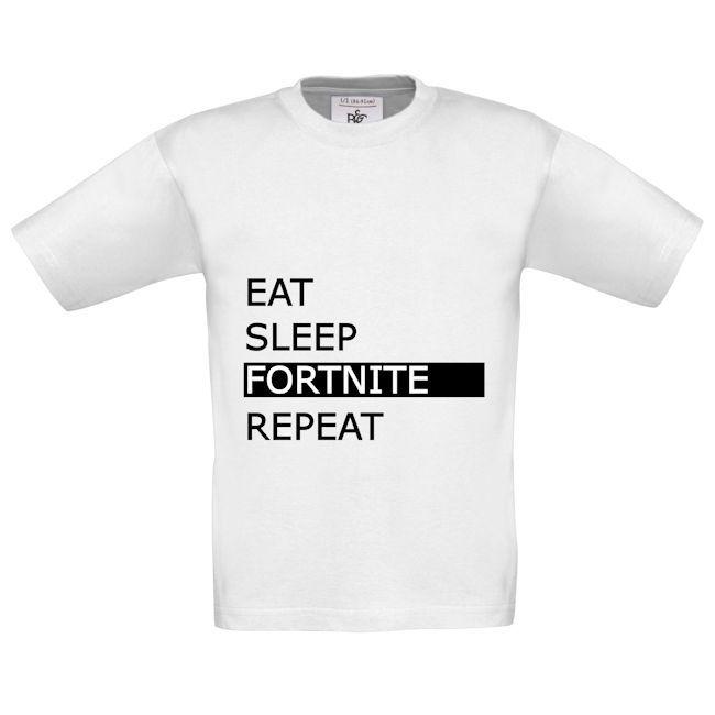 EAT SLEEP FORTNITE REPEAT SHIRT