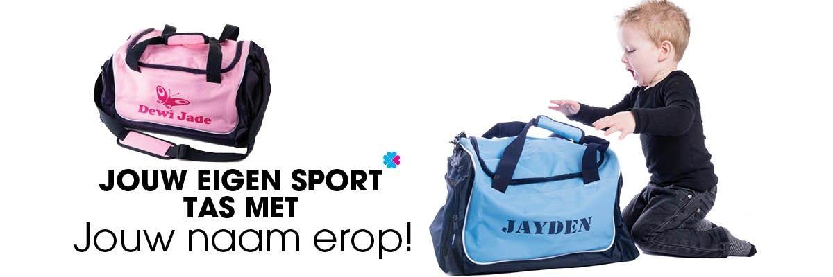 Jouw eigen sporttas met met jouw naar erop