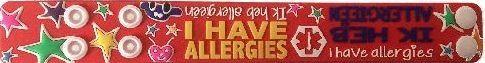 allergie armband koter kado