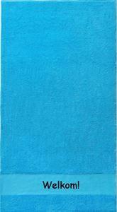 gastendoekje blauw met eigen tekst bedrukt koterkado